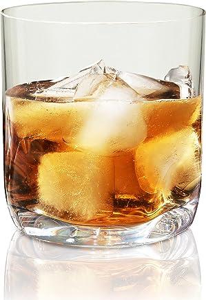 Vivocci Unbreakable Tritan Plastic Rocks 12.5 oz Whiskey & Double Old Fashioned Glasses