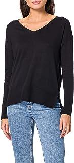 ESPRIT Mit Leinen: Basic Pullover mit Organic Cotton