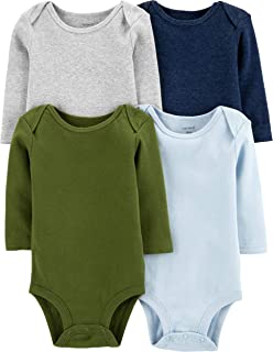 Carter's Unisex-Baby 4-Pack Long Sleeve Bodysuits