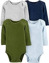 Carter's Unisex-Baby 4-Pack Long Sleeve Bodysuits