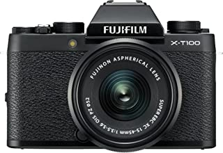 Fujifilm X-T100 Mirrorless Digital Camera w/XC15-45mmF3.5-5.6 OIS PZ Lens - Black