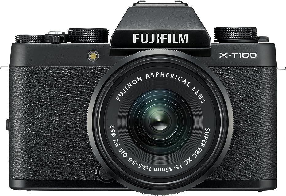 Fujifilm X-T100  - Cámara digital objectivo XC15-45mm F3.5-5.6 OIS PZ Negro