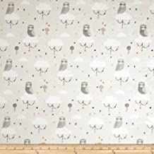 Michael Miller 0573079 Minky Lunar Owls Gray Fabric by The Yard