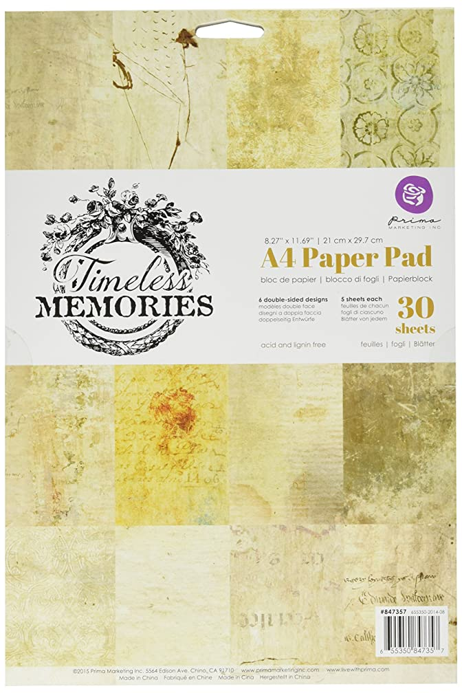 Prima Marketing Timeless Memories Double-Sided Paper Pad A4 (30 Pack)