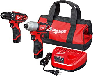 """Milwaukee 2494-22 M12 Cordless Combination 3/8"""" Drill / Driver and 1/4"""" Hex.."""