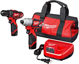"Milwaukee 2494-22 M12 Cordless Combination 3/8"" Drill / Driver and 1/4"" Hex.."
