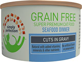 Simply Perfection Super Premium Grain Free Seafood Dinner-Cuts 72Oz Case, 24 Cans