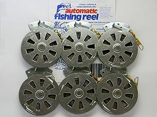 6 Mechanical Fisher's Yo Yo Fishing Reels -Package 1/2 Dozen- Yoyo Fish Trap -(Flat..