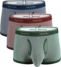 Separatec Men's Underwear Colorful Stylish Striped Comfort Soft Cotton Trunks 3 Pack