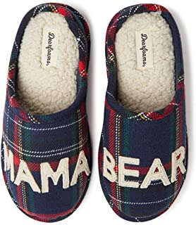 Women's Family Collection Mama Bear Plaid Clog Slipper