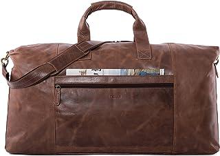 LEABAGS Sydney Reisetasche Handgepäcktasche Sporttasche aus echtem Leder im Vintage Look, LxBxH: ca. 64 x 25 x 34 cm - CrazyVinkat
