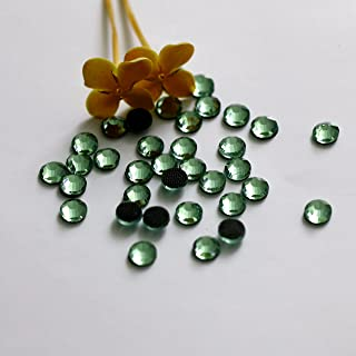 720pcs Ss20 About 5mm Dmc Iron on Hot Fix Crystal Rhinestones Diamond Gems Wholesale (Light Green)
