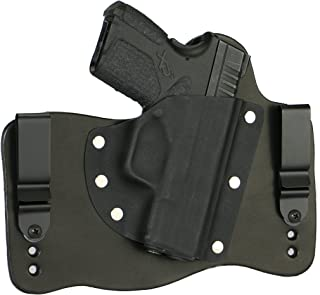 FoxX Holsters Springfield XD-S 9mm & 45 ACP in The Waistband Hybrid Holster Tuckable, Concealed Carry Gun Holster