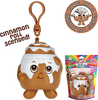 Whiffer Squishers 'Howie Rolls' Slow Rising Squishy Toy Cinnamon Roll Scented Backpack Clip