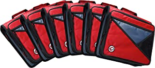 Case-It LT-007-RED-C Universal 2-Inch 3-Ring Zipper Binder, Holds 13-Inch Laptop, Red, Case of 6