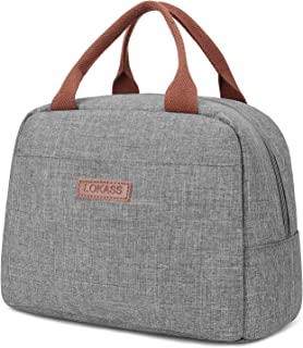 LOKASS Lunch Bag Cooler Bag Women Tote Bag Insulated Lunch Box Water-resistant Thermal Lunch Bag Soft Liner Lunch Bags for...