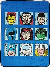 بطانية أريكة من Marvel Comics Avengers - مقاس 116.84 سم × 152.4 سم، تضم فراش الأطفال كابتن أمريكا، والفهد الأسود، ودكتور س...