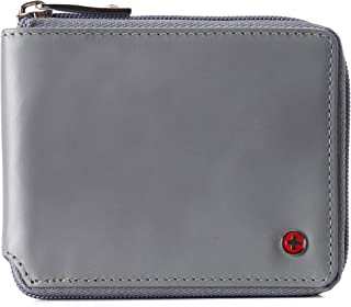 Alpine Swiss Men's Logan Zipper Bifold Wallet RFID Safe York Collection