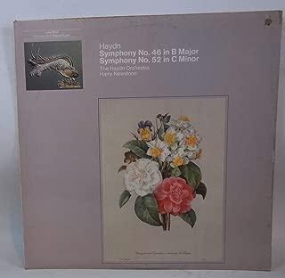 Haydn: Symphony No 46 in B Major, Symphony No 52 in C Minor