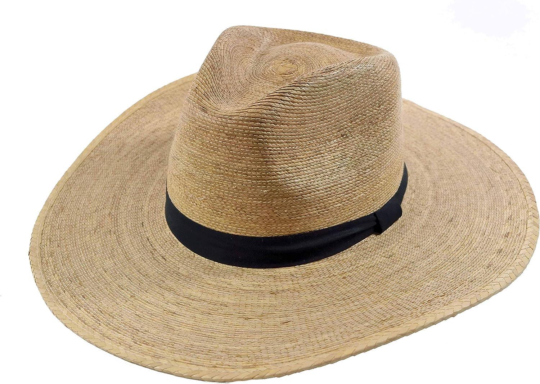Palm Leaf Straw Panama Style Fedora Hat UPF 50+