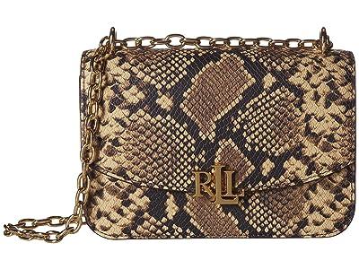 LAUREN Ralph Lauren Madison 22 Medium Crossbody (Oatmeal Multi) Handbags