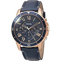Fossil Men's Grant Sport Stainless Steel and Leather Chronograph Quartz Watch (FS5237)