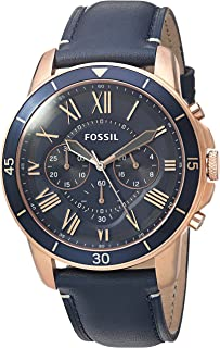 Fossil Men's Grant Sport Quartz Stainless Steel and leather Dress Watch Color