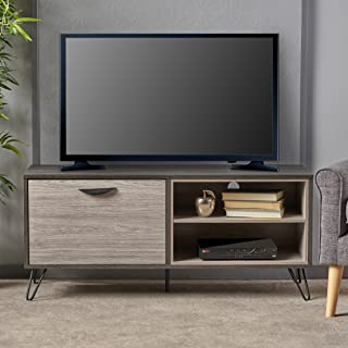 Christopher Knight Home Faux Wood Tv Stand, Sonoma Gray Oak/Gray Oak/Black