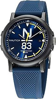 Nautica Men's Quartz Silicone Strap, Blue, 20 Casual Watch (Model: NAPEPS101)