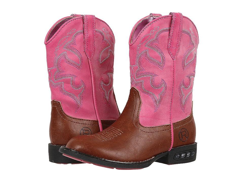 Roper Kids Lightning (Toddler/Little Kid) (Light Beige/Pink) Cowboy Boots