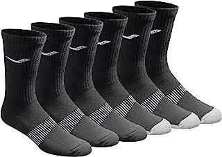 Saucony mens Multi-pack Mesh Ventilating Comfort Fit Performance Crew Socks