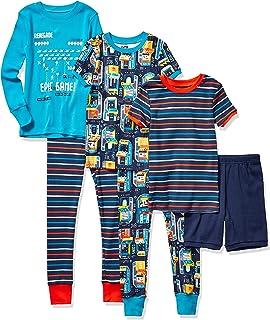 Marca Amazon - Spotted Zebra 6-Piece Snug-fit Cotton Pajama Set Unisex bebé