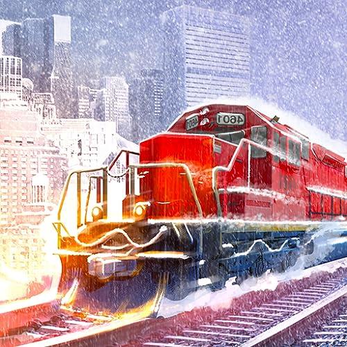 Winter American Train Driving Simulator