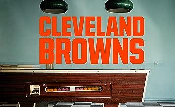 Cleveland Browns Sticker, Cleveland Browns Decal, Browns Decal, Browns Sticker, Browns Home Decor, Browns car Sticker, NFL Cleveland Browns Sticker, NFL Decal, Cleveland Browns Wall Decal f30 (10x30)