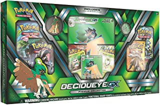 Pokemon TCG: Sun & Moon Guardians Rising Decidueye-GX Premium Collection Box | Features Exclusive Decidueye-GX Foil, Oversized Holofoil, Collector's Pin, Metallic Coin Plus 6 Booster Packs & More!