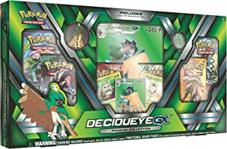 Pokemon TCG: Sun & Moon Guardians Rising Decidueye-GX Premium Collection Box   Features Exclusive Decidueye-GX Foil, Oversized Holofoil, Collector's Pin, Metallic Coin Plus 6 Booster Packs & More!