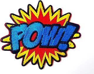 Tyga_Thai Brand POW! Alphabet Superhero Comics Retro Fun Logo Applique Embroidered Sew on Iron on Patch for Backpacks Jeans Jackets T-Shirt Clothing etc. (Iron-POW!-Comics)