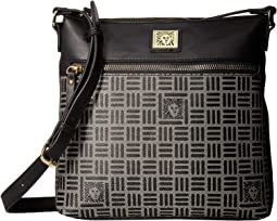 Lion Logo North/South Crossbody