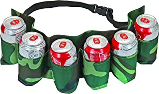 Fairly Odd Novelties 6 Pack Beer and Soda Can Holster Belt Camouflage