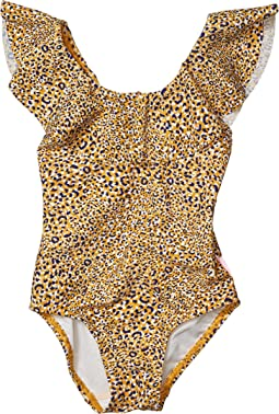 Mini Me Wild Tropic Spirit Animal Ruffle Tank One-Piece (Toddler/Little Kids)