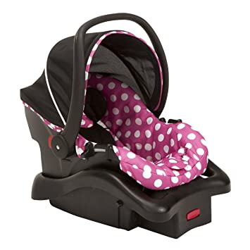 Disney Baby Minnie Mouse Light 'n Comfy 22 Luxe Infant Car Seat (Dot): image