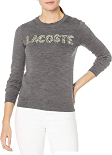 Lacoste Womens Long Sleeve All Over Croc Logo Sweater