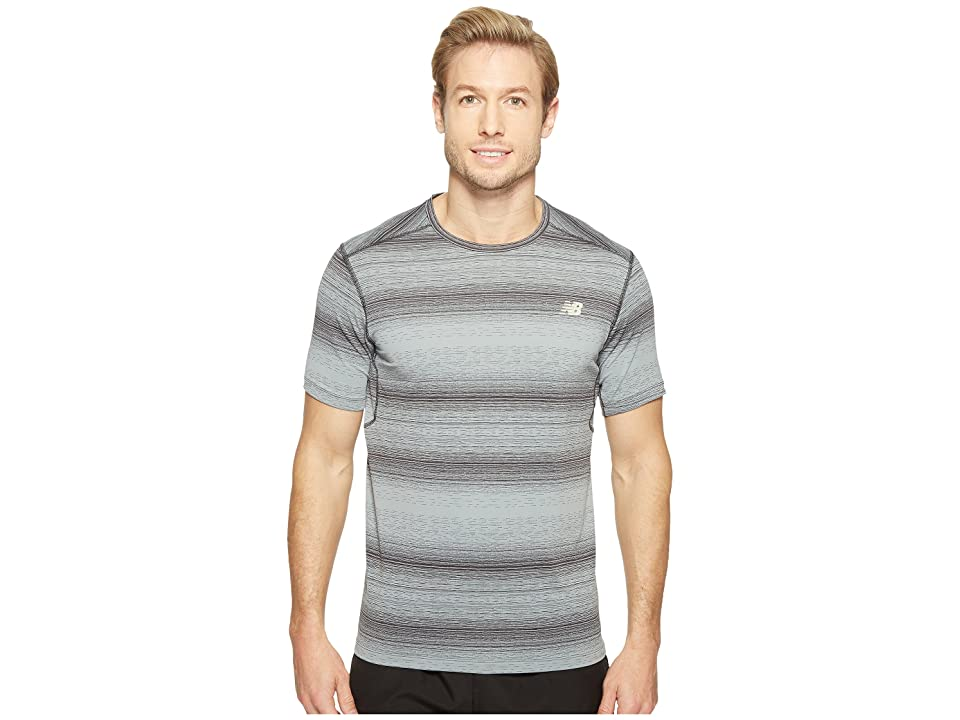 New Balance Kairosport Tee (Heather Charcoal/Outerspace) Men