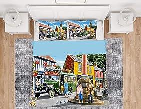 3D Parure de lit Housse de Couette Parure de Lit Housse de Couette Autobus Taille (220x240cm), Ensemble 3 pièces, 1 Housse...