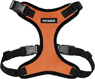 Voyager Step-in Lock Dog Harness - Adjustable Step-in Vest Harness for Small and Large Dogs - Orange, Large