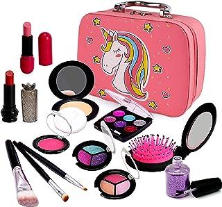 Sendida Pretend Makeup Toys for Girls - Kids Play Makeup Kit Fake Cosmetics Gift for 3, 4, 5, 6 Years Little Girls Toddler...