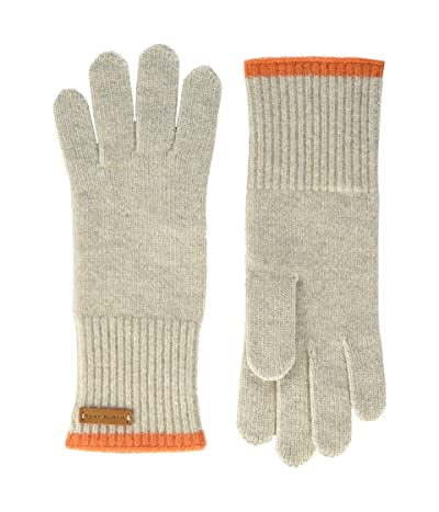 Tory Burch Cashmere Gloves (Oatmeal/Orange) Extreme Cold Weather Gloves