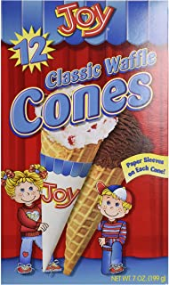 Joy Cone, Waffle Cone, 7 Ounce (Pack of 1)