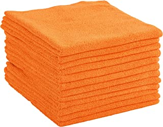 Dri 12-Pack Premium 16 in. x 16 in. Microfiber Cleaning Cloths (Orange)