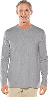 Coolibar UPF 50+ Men's Morada Everyday Long Sleeve V-Neck T-Shirt - Sun Protective